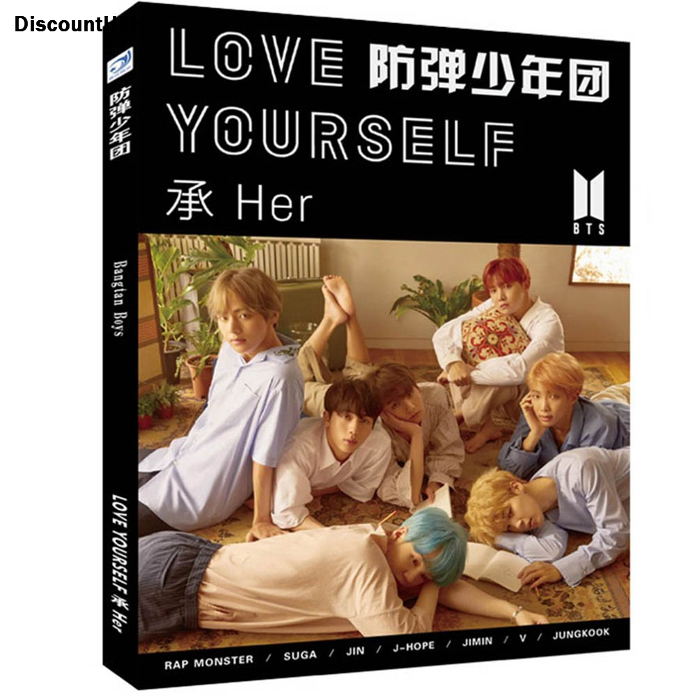 2017 Kpop Bts Bangtan boys LOVE YOURSELF photo album postcards 1 set:Photo album*1, poster*1, bookmark*2. exo 2nd album repackage love me right kpop
