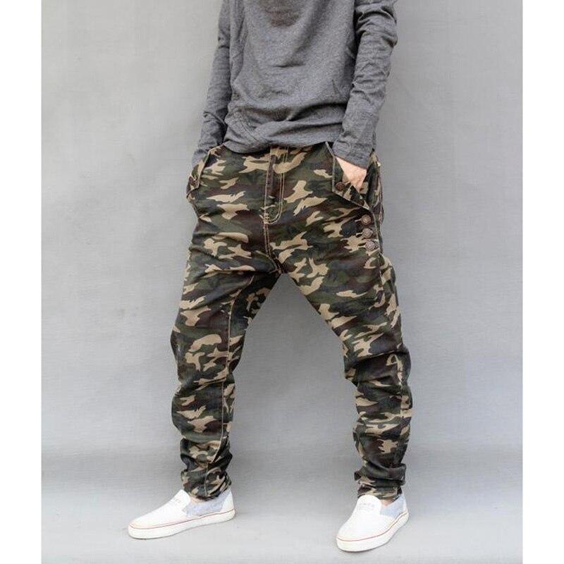 Pantalon Camouflage coton marque pantalon ample Harem pantalon homme joggeurs Hiphop vêtements élastique Jeans grande taille L-6XL