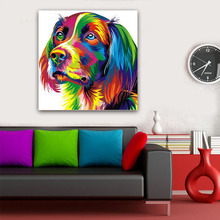 Poster canvas Wall art animal Canvas Painting Pop Art Dog Modern Pictures print for Living Room No frame
