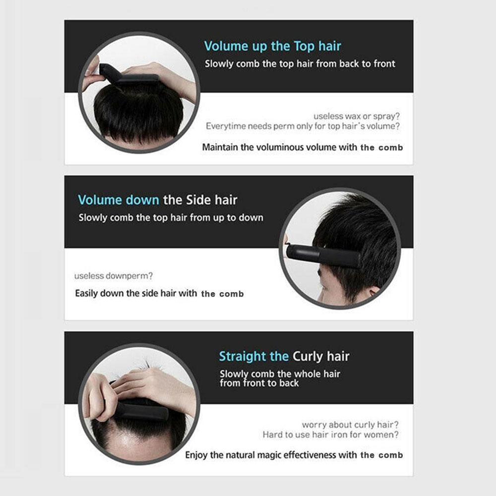 Multifunctional Brush Beard Straightener With Hair Comb Straightening Hair Styler For Men 12