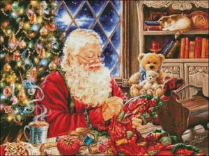 Image 2 - Santa Sew Sweet   Counted Cross Stitch Kits   DIY Handmade Needlework For Embroidery 14 ct Cross Stitch Sets DMC Color