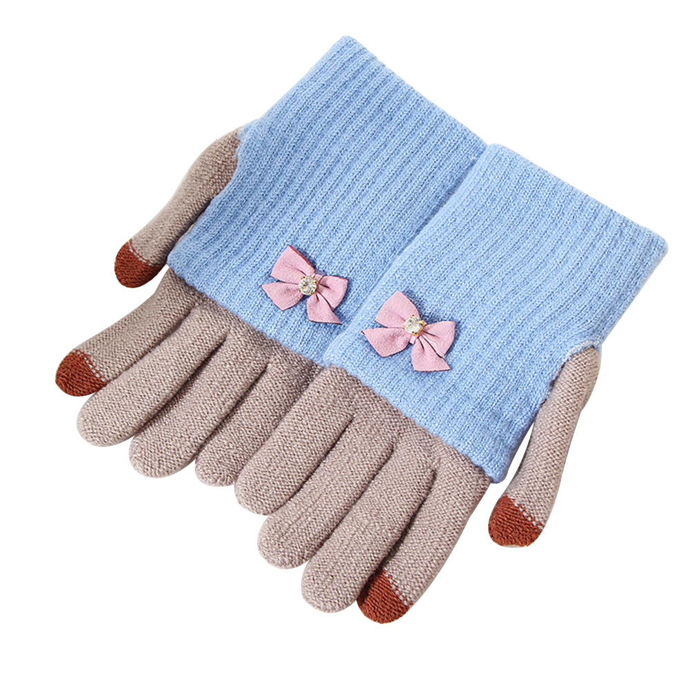 Boys Girls Magic Stretchable Rainbow Cozy Gloves Pair Winter Warm Soft Windproof