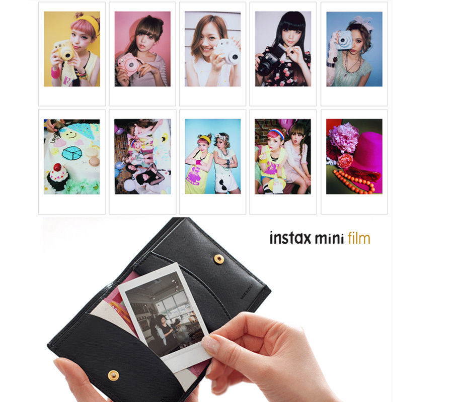Image 2 - 100 Sheets Fujifilm Instax Mini 8 film for Fuji 7s 9 70 25 50s 90 Instant Photo Camera White FilmShare SP 1 SP 2-in Film from Consumer Electronics