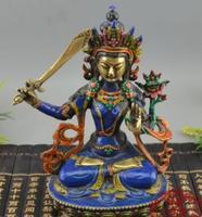 Brass Ornaments Nepalese Tara Buddha Guanyin Incarnation Swords Tara Sitting Buddha>>Free shipping