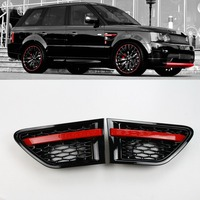 Car auto parts tuning air side vents black grey silver chrome pair ABS for Land Range Sport Rover 2010 2013 Wing SVSPS parts