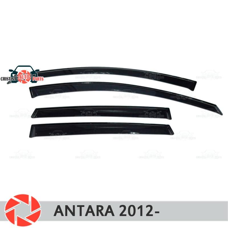 купить Window deflector for Opel Antara 2012- rain deflector dirt protection car styling decoration accessories molding по цене 1550 рублей