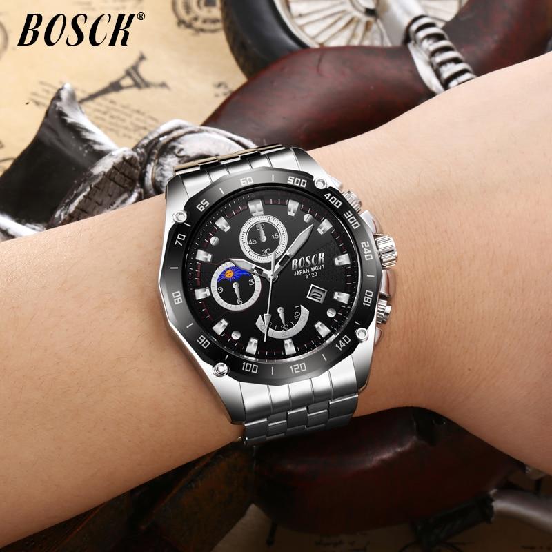 Męskie Zegarki Top Marka BOSCK Luxury Fashion Business Zegarek - Męskie zegarki - Zdjęcie 5