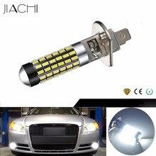 JIACHI 100 шт./лот авто автомобиль Внешний Фары автомобиля противотуманная фара H1 FPC 78 светодиодов 3014 SMD лампа для дневных ходовых огней DRL Белый 12-24 V