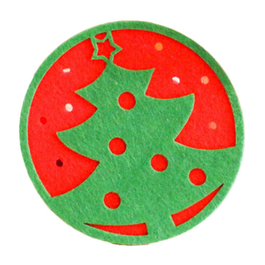 1 Stks Willekeurig Kerstversiering Cup Pad Sneeuwpop Herten Xmas Kerst Tafel Coaster Leuke Placemats Kerstcadeaus Ornamenten Gediversifieerde Nieuwste Ontwerpen