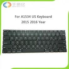 Original New A1534 Keyboard For MacBook 12″ MF855LL/A MF865LL/A US Standard Keyboard 2015 2016 Year