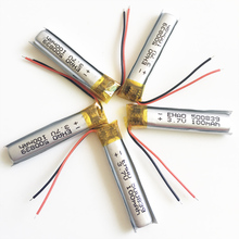 5 pcs 3.7V 100mAh lipo rechargeable battery 500839 lithium polymer for MP3 bluetooth watch