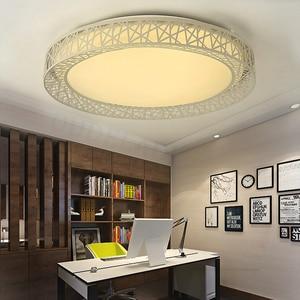 Image 3 - Modern LED ceiling lights for Bedroom living room Iron light fixture Home decorative Black/White Round Bird Nest Ceiling Lamp