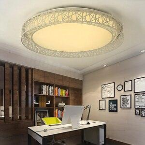 Image 3 - 現代のledシーリングライトリビングルームの鉄照明器具ホーム装飾黒/白ラウンド鳥の巣の天井ランプ