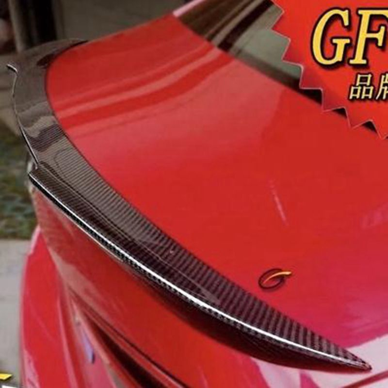 Carbon Fiber Car Rear Trunk Spoiler Wing Fit For Mazda 3 AXELA 2014-2017 top quality real carbon fiber car outside exterior rearview mirror caps cover for mazda 3 axela 2014 2017 sticking on type
