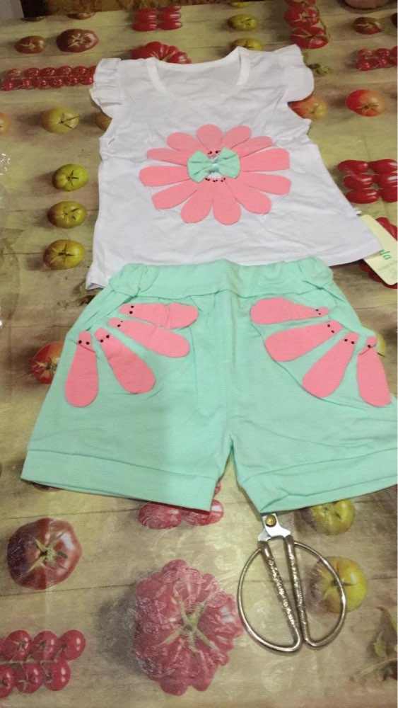 Baby Girl's Summer Floral Printed Cotton Clothing Set photo review