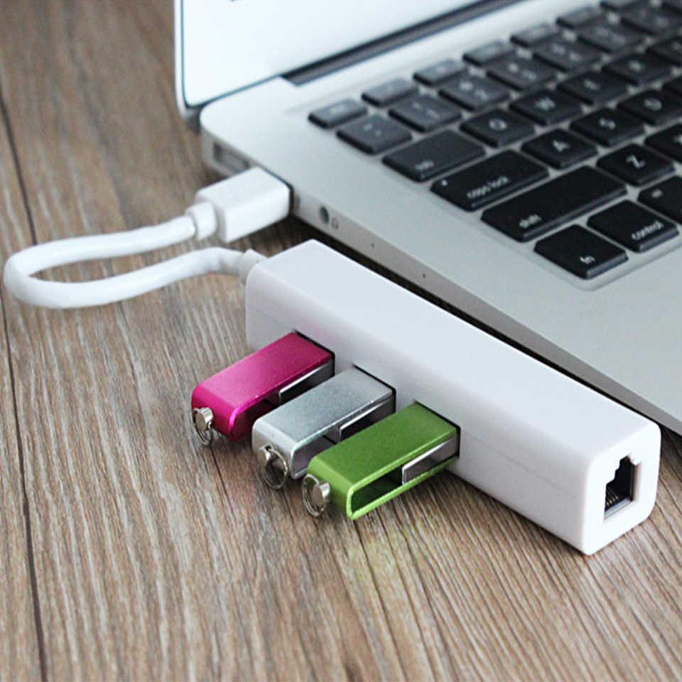 USB محول إيثرنت مع 3 محور USB2.0 نيك USB إلى إيثرنت RJ45 Lan جيجابت الإنترنت ويندوز 7/8/10 لأجهزة الكمبيوتر اللوحي المحمول