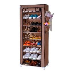 9 Layers Shoe Shelves 27 Pairs Shoe Storage Wardrobe Rack Cover Closet Shoe Storage Cabinet Organizer