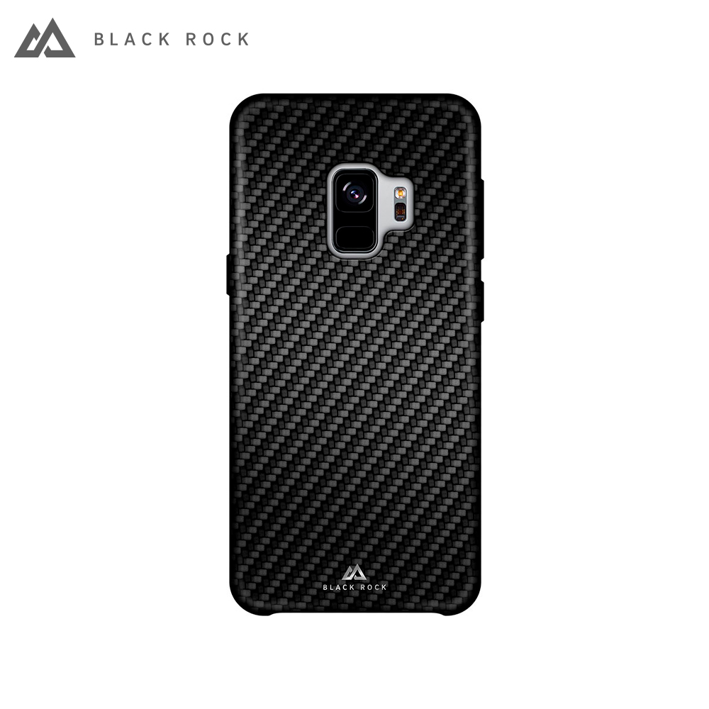 Case-pad Black Rock Flex Carbon Case for Samsung Galaxy S9 color black for samsung i779 lcd screen display with touch digitizer assembly by free shipping black color