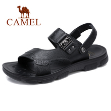 Sandals Men Slippers Genuine-Leather Shoes Open-Toe Business Casual Summer New Hombre