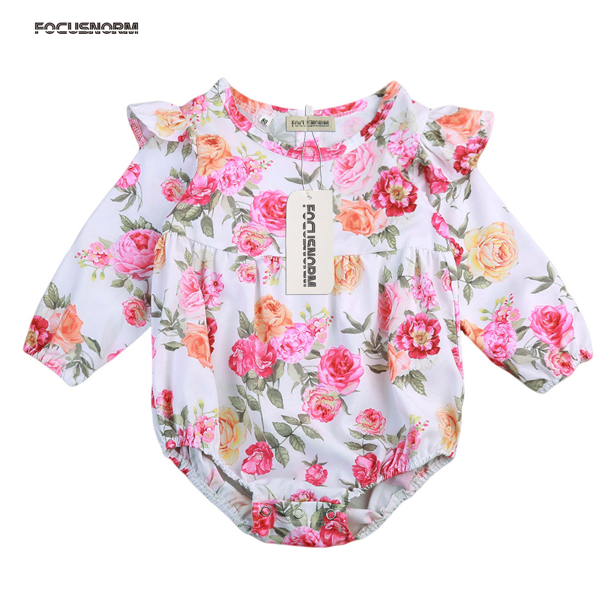 Butterfly Sleeve Romper Floral Outfits Jumpsuit Infant Toddler Baby Girl Kids Playsuit Clothes