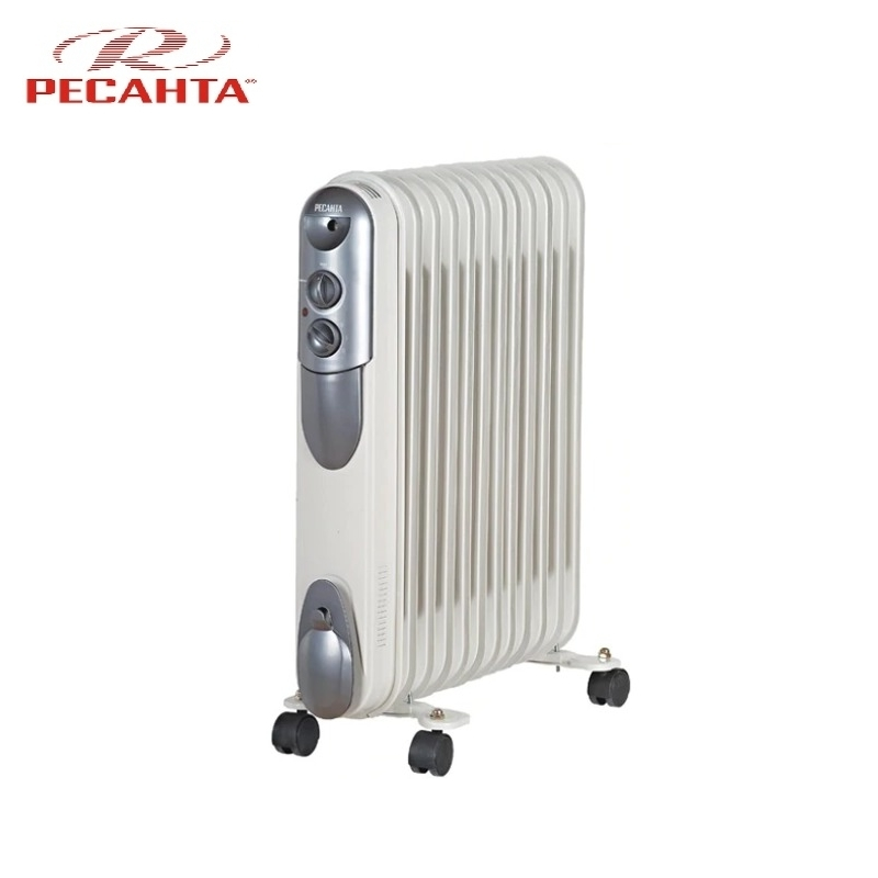 Oil radiator RESANTA OMPT-12N Air heating Oil heater Space heating Oil filled radiator Sectional radiator