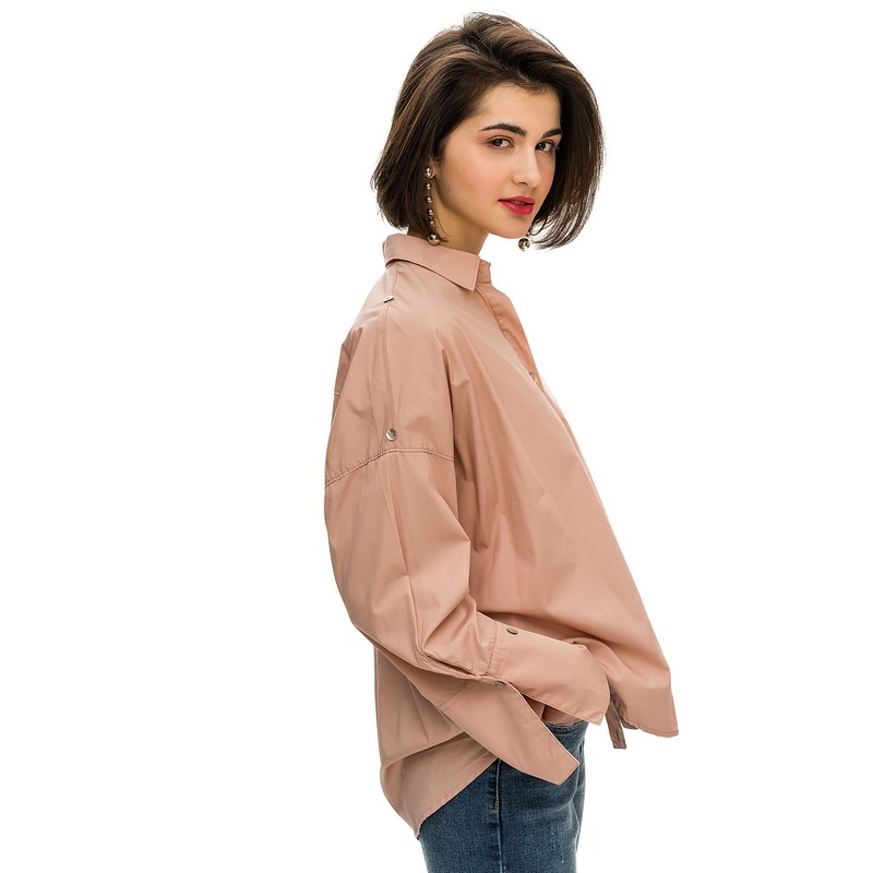 Blouses & Shirts blouse befree for female cotton shirt long sleeve women clothes apparel  blusas 1811400356-90 TmallFS flare sleeve self tie cut out blouse