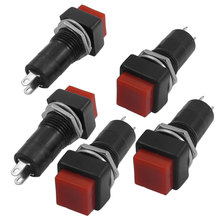 цена на Uxcell 5 Pcs Ac 250V/3A Normally Open Spst Latching Push Button Switch . | 11.4mm | 11.5mm | 11.7mm | 11mm