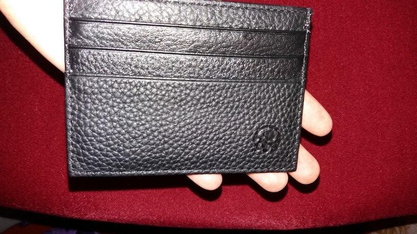 Mannen Portemonnee Creditcardhouder Slanke Eendelige Organisator Zak Informeel Reis Leer Porte Carte Heren Portemonnee #815 photo review