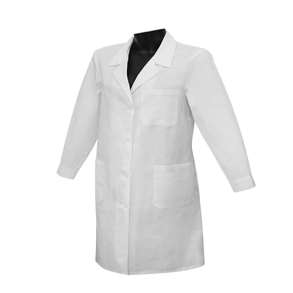 BATA SENORA MANGAS LARGAS UNIFORME LABORAL DOCTORA CLINICA HOSPITAL LIMPIEZA DENTISTA VETERINARIA MEDICO ENFERMERIA REF:8161