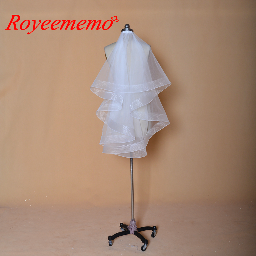 2 layers simple elegant wedding Veil with Comb Wedding Veil free shipping