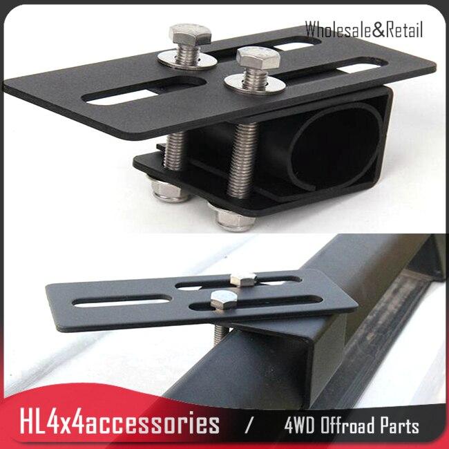 2pcs Car roof rack light bracket Crossbar Luggage rack bumper bull bar Mounting holder for Led