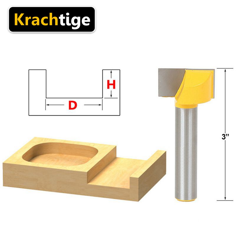 Krachtige Flat End Milling Cutter 1/4 Shank Woodworking CNC Insert Router Bit Tungsten Cleaning bottom Mill Cutter 3/8 1/2 3/4 1 1pc durable mayitr cnc carbide alloy woodworking milling cutter straight end 1 2 shank 2 1 4 dia bottom cleaning router bit