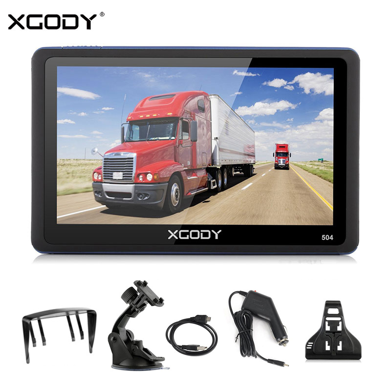 XGODY Truck GPS Navigation Sat Nav Touch-Screen Europe-Map Auto 5inch Russia 504 5-Vehicle