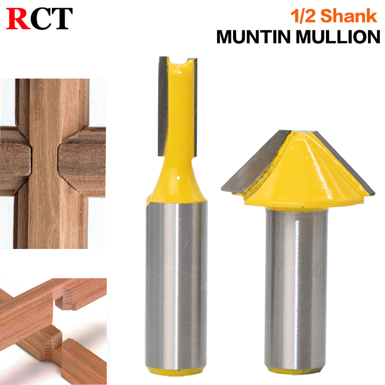 2 pc 1/2 SH Window grill Muntin/Mullion Cutter Router Bit Set woodworking cutter Tenon Cutter for Woodworking Tools RCT19001 2 pc 1 2 sh 1 2 3 8 rabbeting