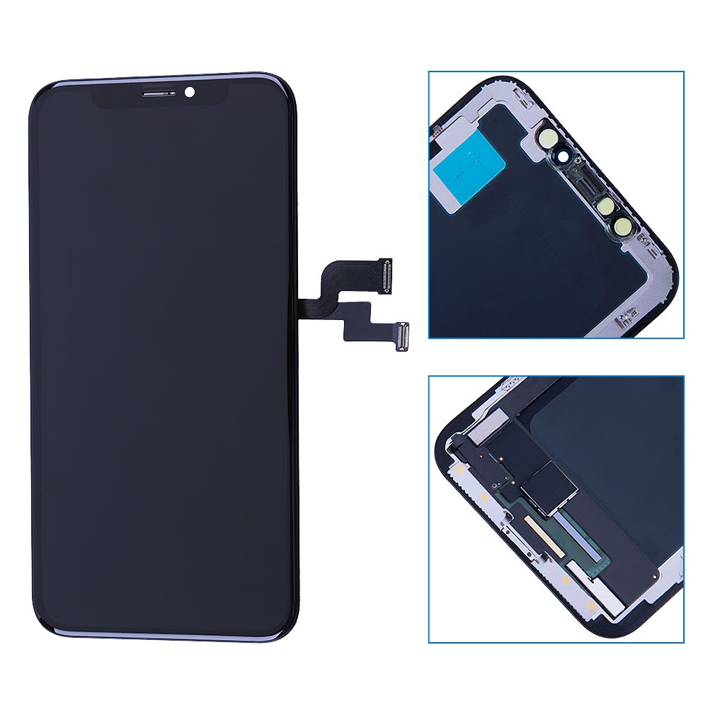 Elekworld Grade Soft OLED GX For iPhone X LCD Display With 3D Touch Screen Digitizer Assembly Replacement Parts Flexible OLED