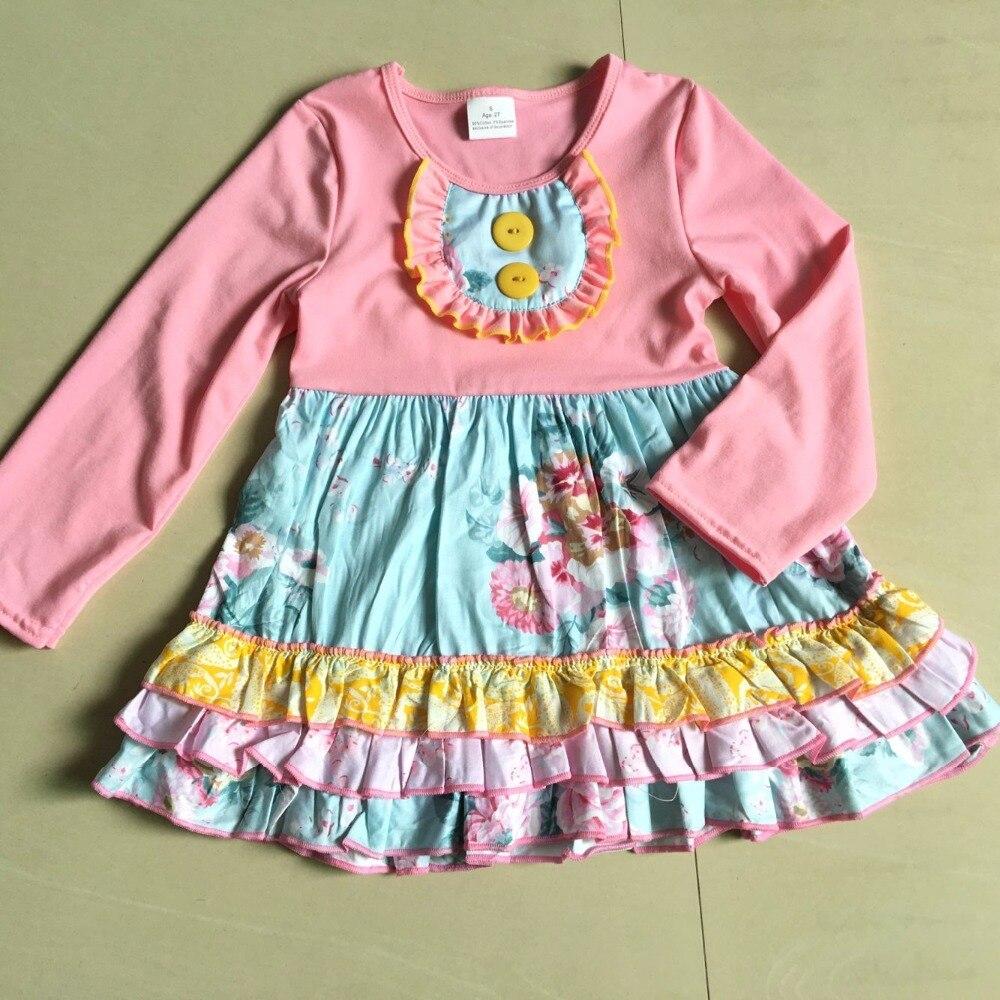 summer and autumn Flower Printed Dress 100 percent cotton