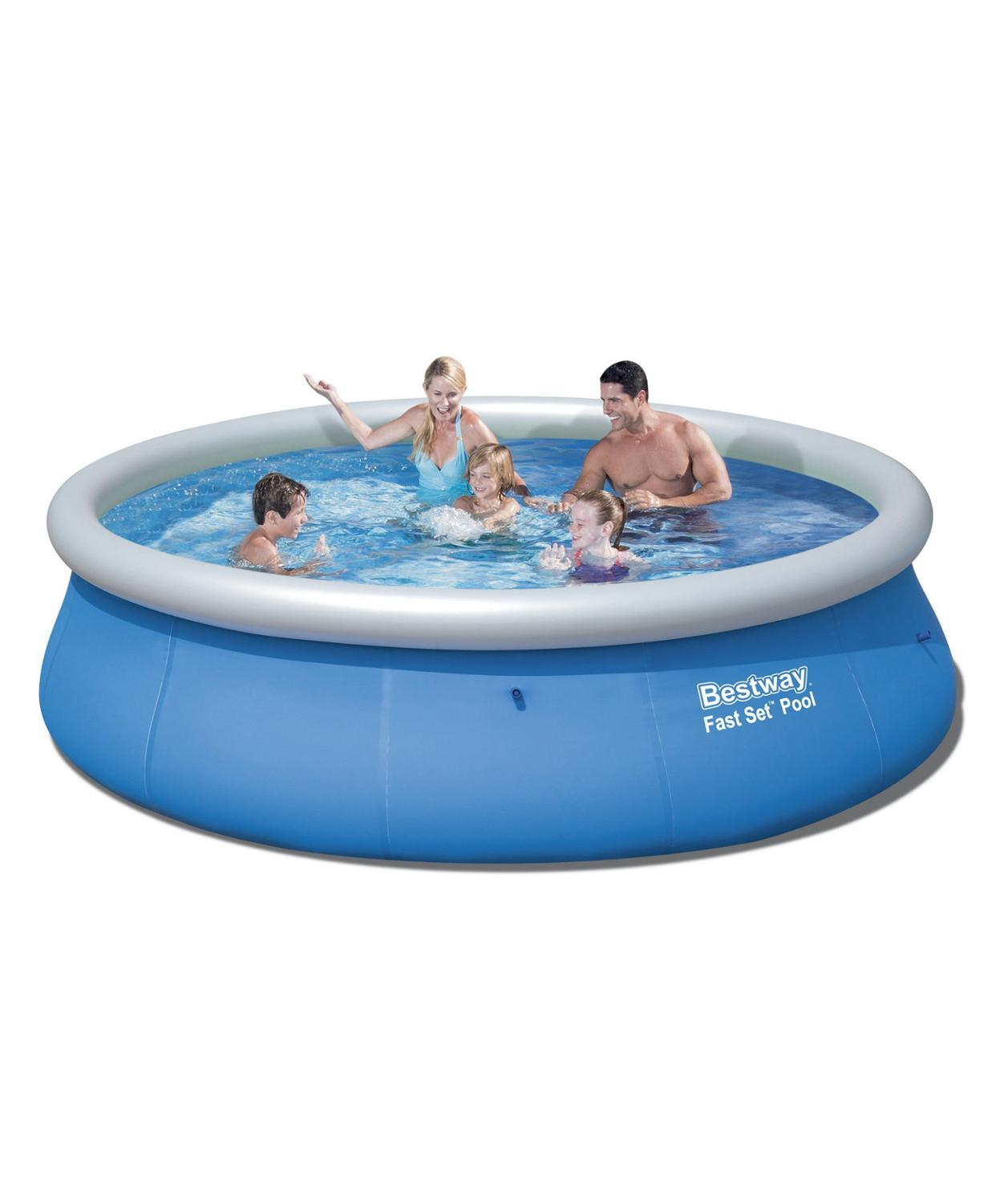 Round Pool Inflatable водораспорный With Inflatable Ring Broadside For Garden Summer Fast Set 457 х91 Cm, 10179 L, Bestway, Item No. 57310