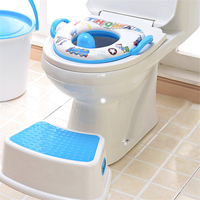 Newly Cartoon Children Toilet Seat Potty Training Seats With Armrest Handrail Children's Pot For Baby Boys Girls Urinal