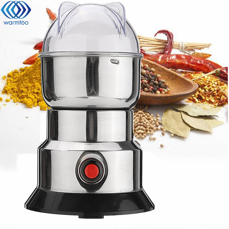 Electric Coffee Grain Grinder Bean Milling Machine Stainless Steel Blade Dry Grinder Household Beans Nuts Mill 220V 100W portable stainless steel electric pepper spice salt milling grinder red silver 6 x aaa