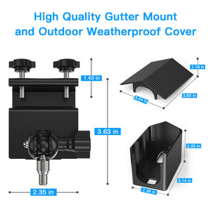 Image 4 - for Arlo Pro 2/Arlo Pro Camera Outdoor Gutter Mount with Weatherproof Protective Case Surveillance Camera Mounting Brackets