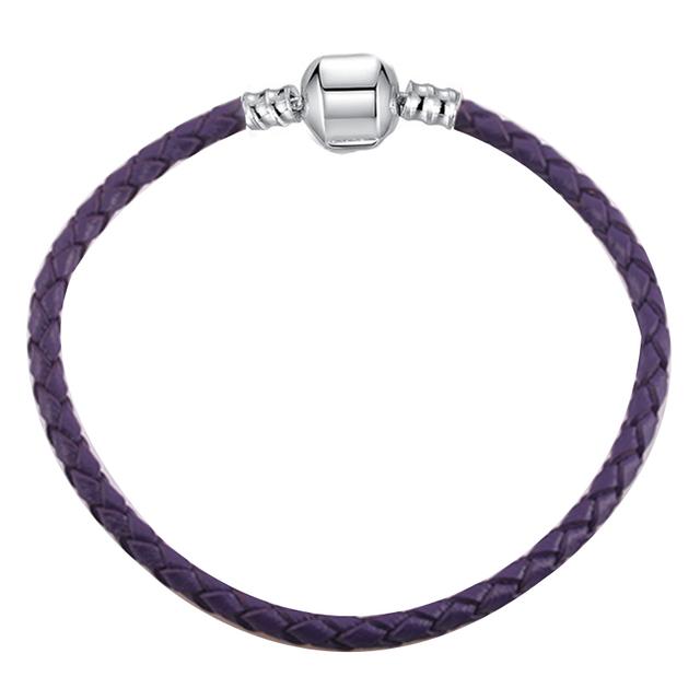 DIY Charm Leather Bracelets