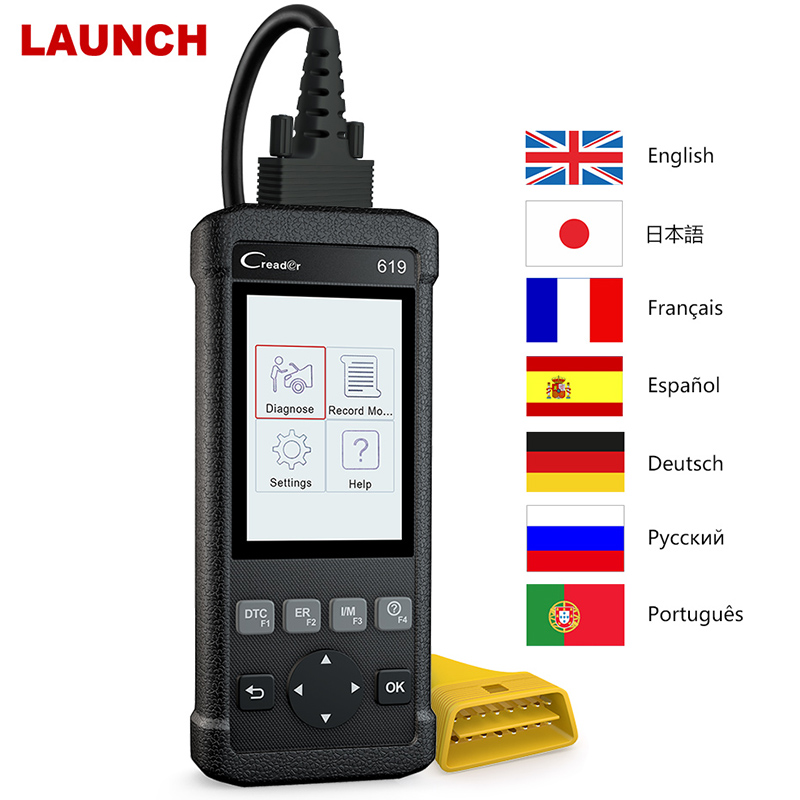 Launch Creader CR619 X431 ODB2 OBD2 Scanner ABS SRS Airbag Crash Data Reset Scanner Tool Code Reader for OBD 2 auto diagnostics