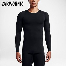 CARWORNIC Quick Dry Shirt Men Workout Bodybuilding Shirts Long Sleeve Tight T Shirt Men Compression Rashgard Fitness T-shirt new quick dry running shirt men bodybuilding sport t shirt long sleeve compression top gym t shirt men fitness tight rashgard