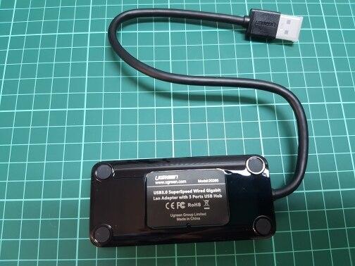 Ugreen USB Ethernet USB 3.0 2.0 to RJ45 HUB for Xiaomi Mi Box 3/S Android TV Set-top Box Ethernet Adapter Network Card USB Lan