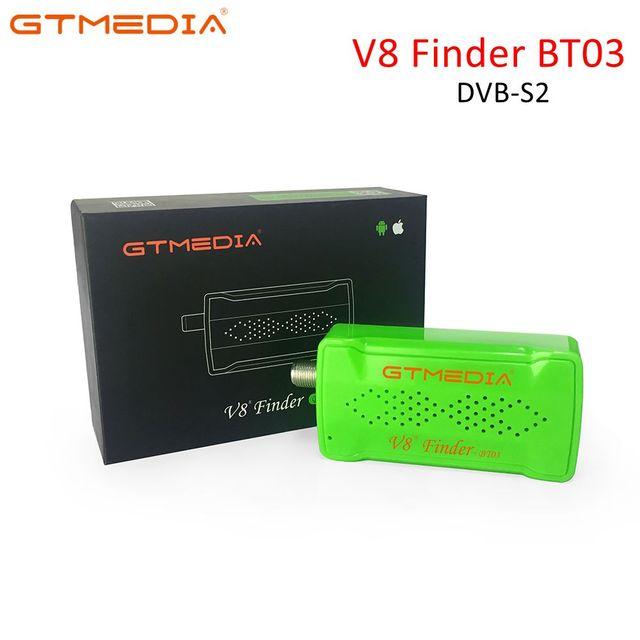 Freesat/GTmedia V8 Finder BT03 Satellite Finder HD 1080p SatFinder DVB S2 contrôle Bluetooth via téléphone Android i pour Signal HD
