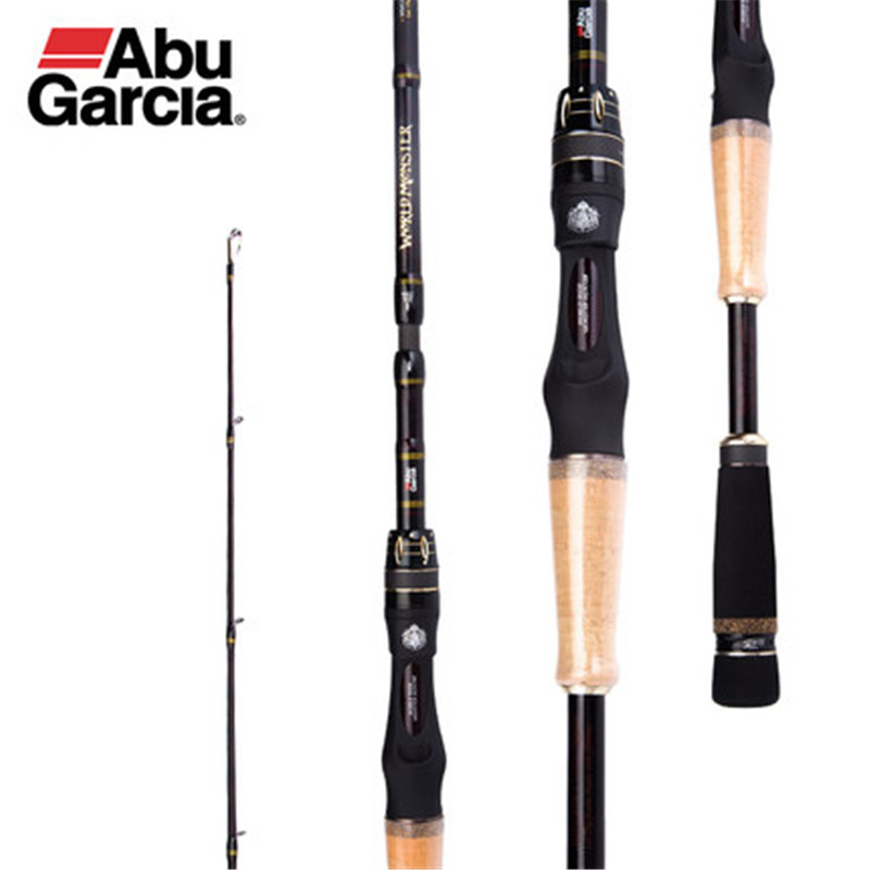 Abu Garcia WMonster 2-4 Sections Lure Rod Casting Rod M/H Power 1.98-2.21m Three Length Carbon 3A Cork Bass Flishing Rod Durable