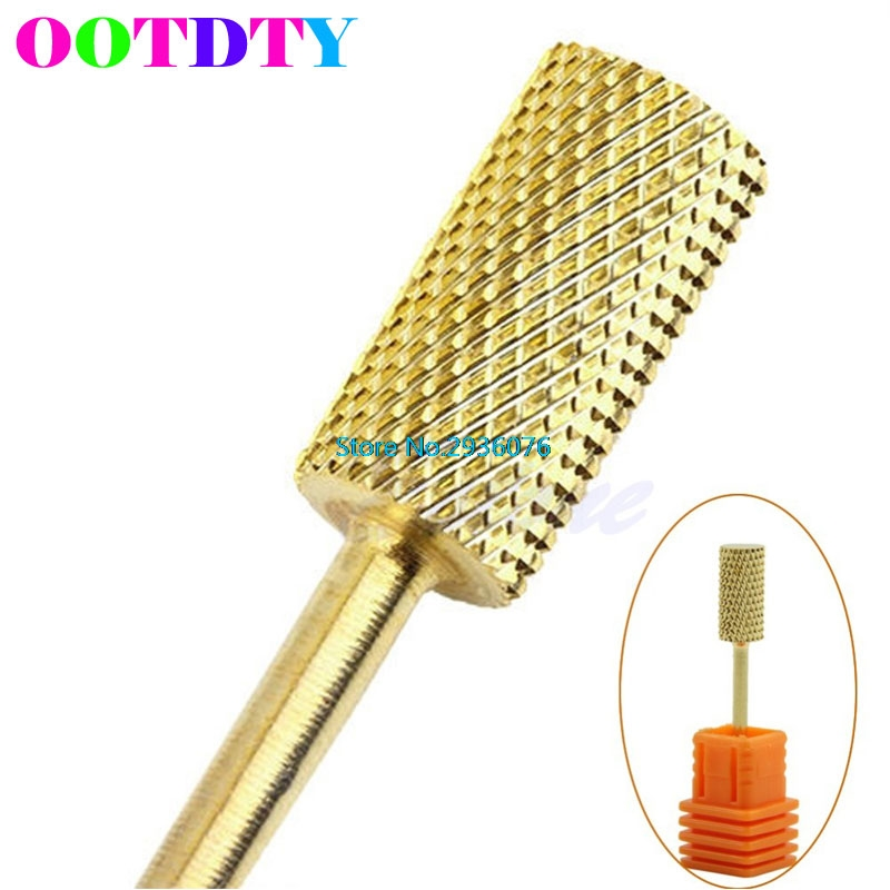 OOTDTY Electric Cylinder Carbide File Drill Bit Nail Art Manicure Pedicure Tools APR3_10