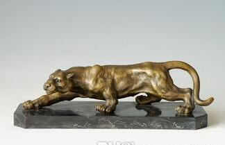 16 inch Art Deco Leopards Bronze Sculpture Cubism Panthers Statue>>Free shipping салфетка синтетическая avs ch 4332 43 см х 32 см page 5 page 5