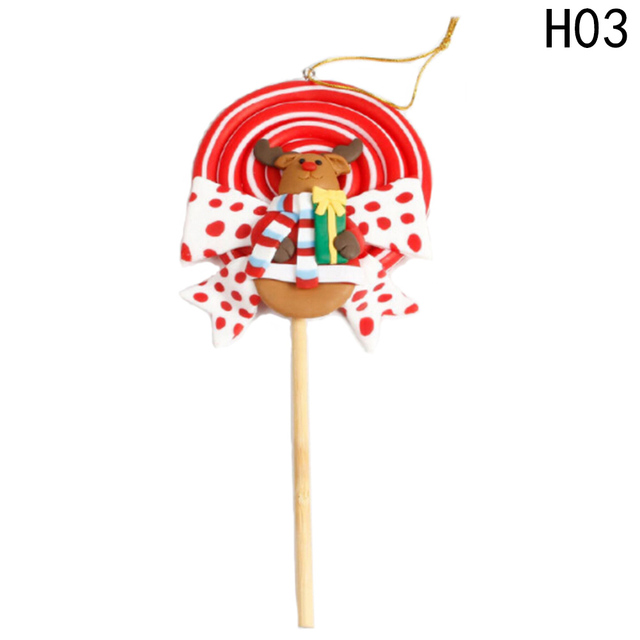 christmas landscape candy soft pottery lollipop christmas decorations for home gift for kids christmas landscape decoration