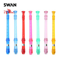Swan German Flute 8 Holes Recorder High-end Colorful Transparent Flute + Cleaning Rod Piccolos Accessories For Beginners Student
